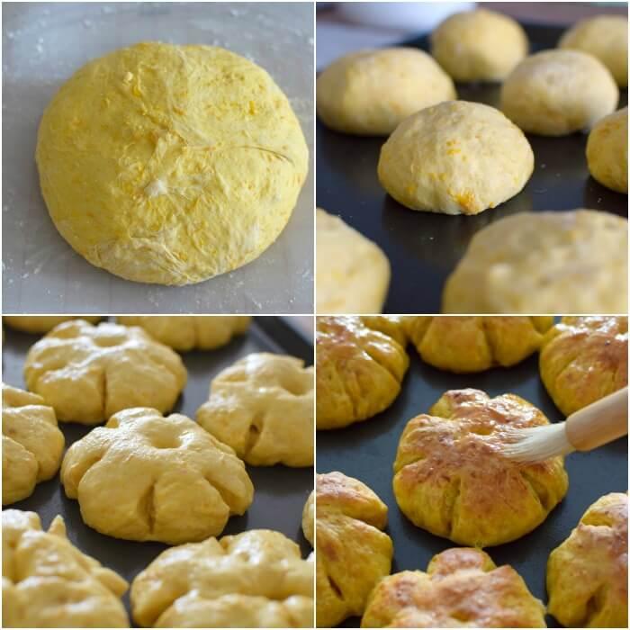 Proceso de elaboración del pan de calabaza, receta casera