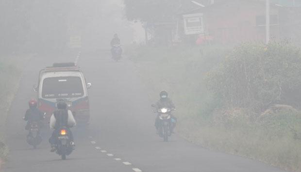 Kabut Asap Selimuti Aceh, Jarak Pandang 1 Kilometer