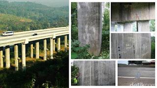 perbaikan retak jembatan cisomang