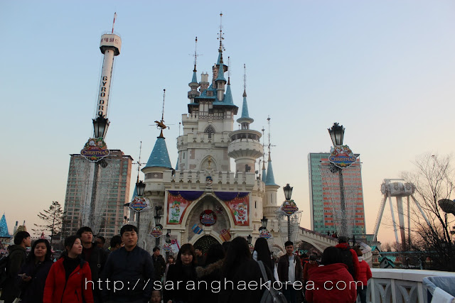 The magic castle at Lotte World