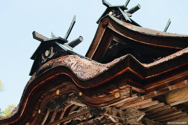 兵庫県丹波市柏原町観光 八幡神社 屋根