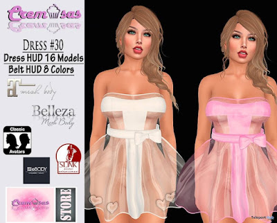 Plastic Dress 30 With 16 Models HUD Group Gift by Cremosas