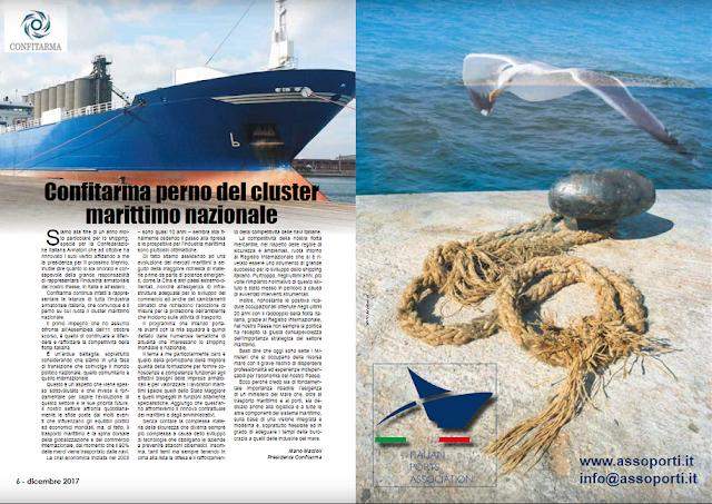 DIC 2017 PAG 6 - Confitarma perno del cluster  marittimo nazionale (Mario Mattioli)