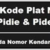 Kode Plat Nomor Kendaraan Pidie & Pidei Jaya