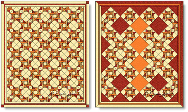 Quilts designed using the ENTWINED STAR quilt block - images © Wendy Russell