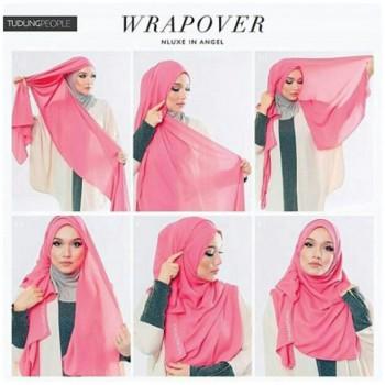 Tutorial Hijab Satin Dan Sifon Untuk Hari Raya Idul Fitri 2016 Tutorial Hijab Terbaru
