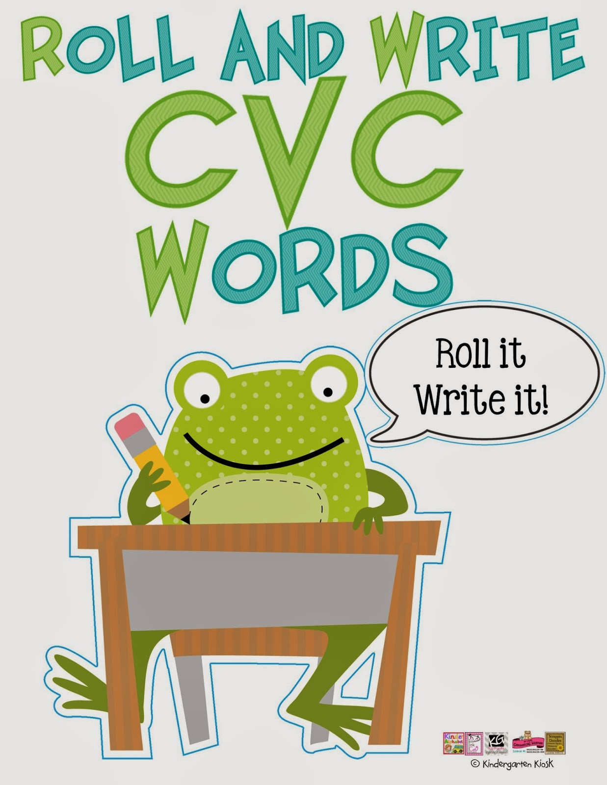 Kindergarten Kiosk Roll And Write Cvc Words