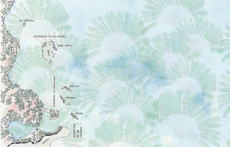 Ispirazioni in stile tropicale per il bagno carta da parati wall&deco