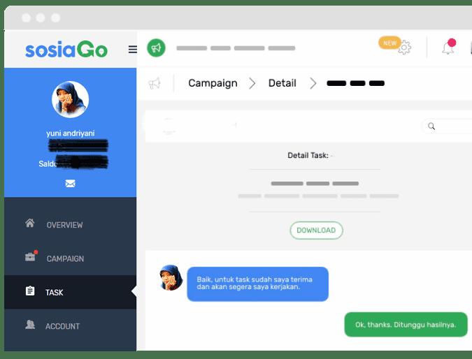 coba SOSIAGO Platform Influencer Marketing