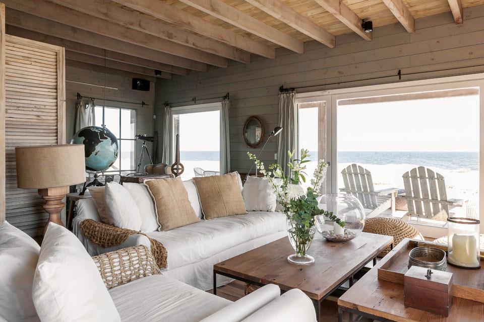 Home madera y olor a sal con toque vintage virlova style - Fotos de casas de madera por dentro ...