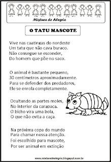Poesia o tatu mascote