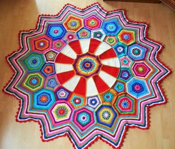 Häkelfieber: Granny-Spiration Challenge 02/2017: Carousel Blanket
