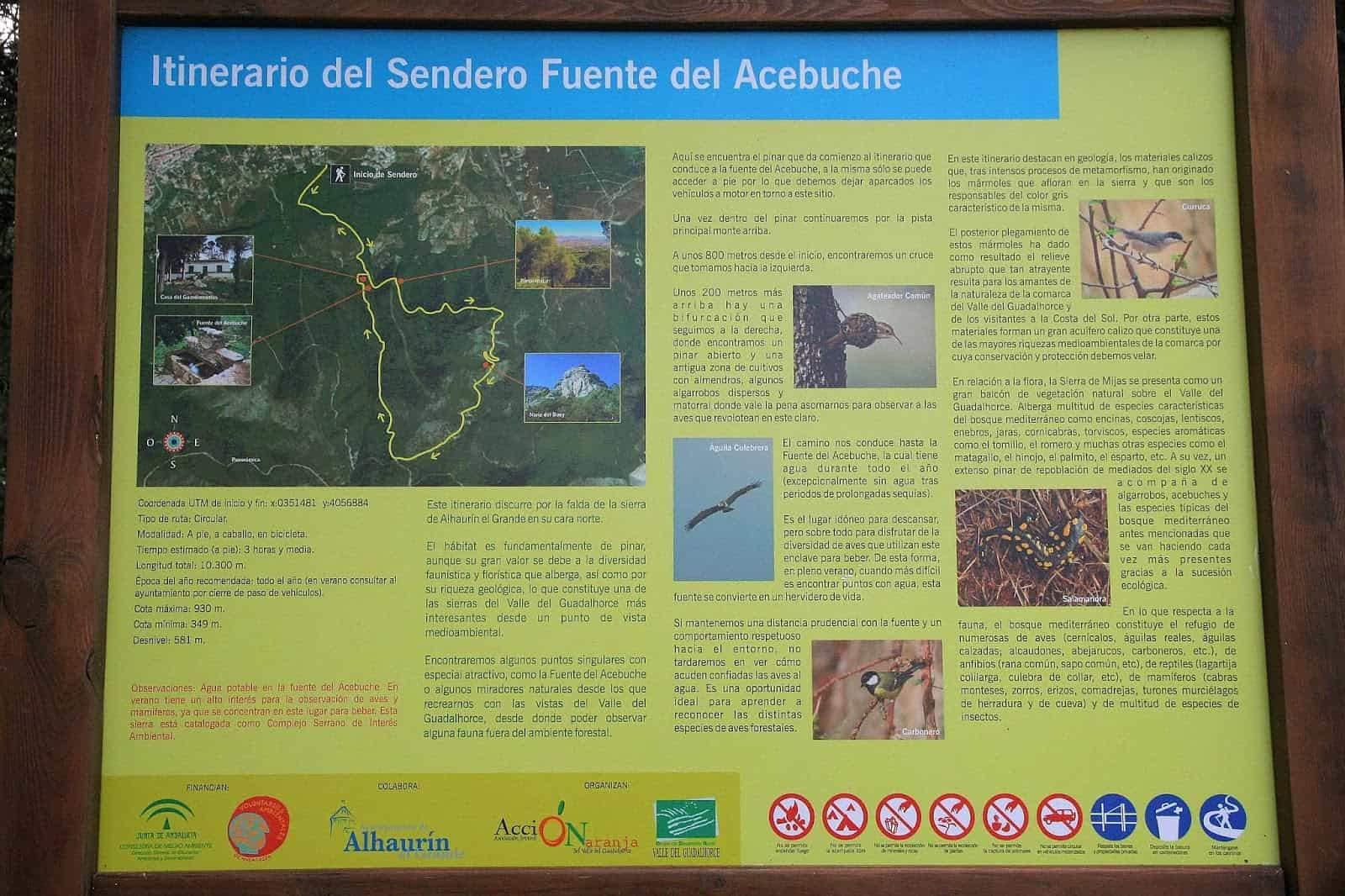 Fuente del Acebuche al Pico de Mijas (Málaga)