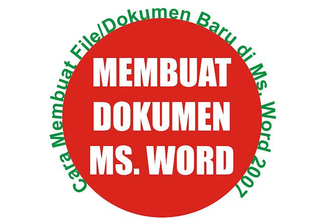 Gambar Ilustrasi Dokumen Baru Ms Word