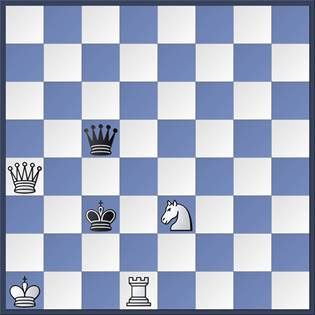 Problema de ajedrez, mate en 2 de G. Mott Smith, Chess Review 1939