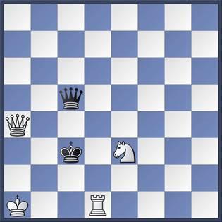 Problema de ajedrez, mate en 2 de G. Mott Smith, Chess Review 1939