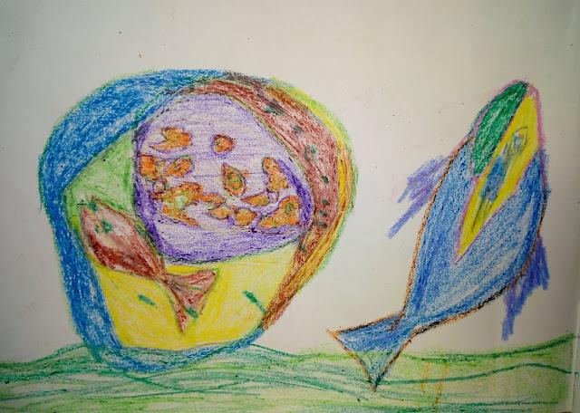 Fish and water drawing