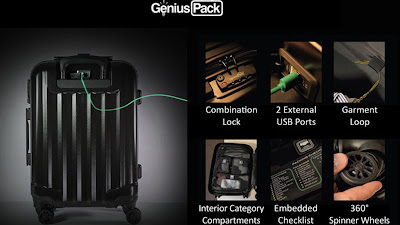Genius Pack Supercharged luggage