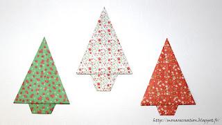 sapin de noel en origami
