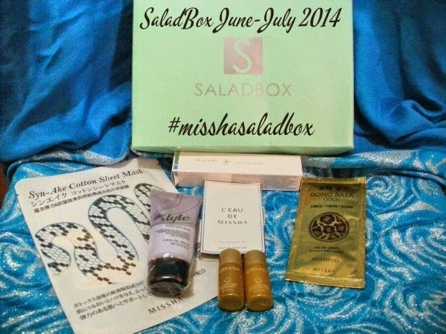 SaladBox June-July 2014 Korean Beauty : A Missha Exclusive