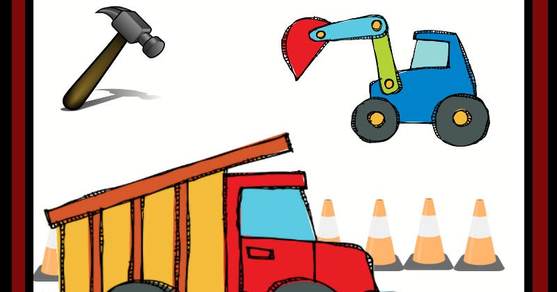 Free Construction Theme Preschool Printables Preschool