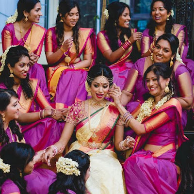 How to pose for Indian Bridal Photo Shoot bridesmaid