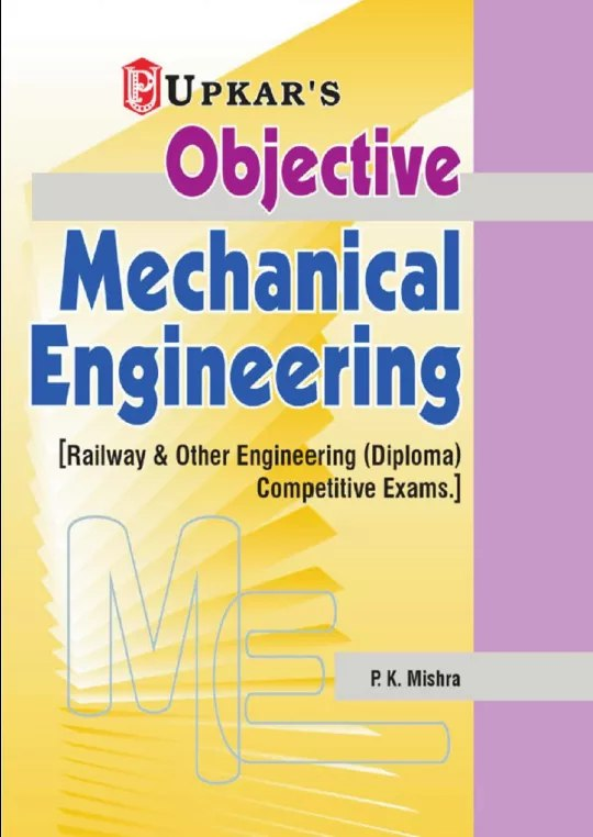 Upkar's Objective Mechanical Engineering e-Book PDF Download