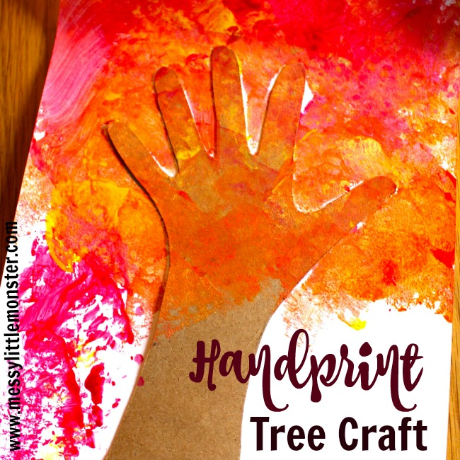 Discuss the colours of the Autumn leaves as you make this easy handprint tree craft. We always love using handprints in our crafts as they make beautiful keepsakes. This activity is perfect to make after reading the book 'Red Leaf, yellow Leaf' by Lois Ehlert.