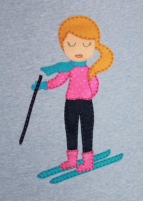 camiseta personalizada esquí