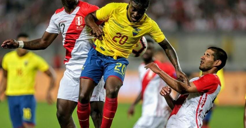 RESULTADOS PERÚ Vs. ECUADOR: Blanquirroja perdió 2 a 0 en partido amistoso