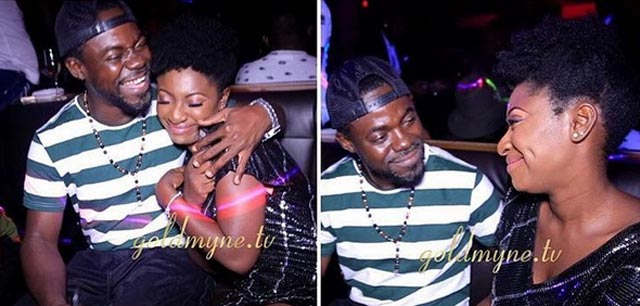 Newly engaged Yvonne Jegede and her man share romantic kiss