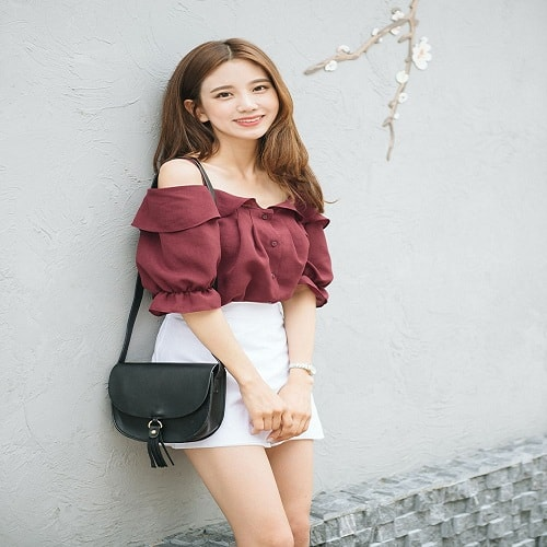 Off-Shoulder Blouse Korea