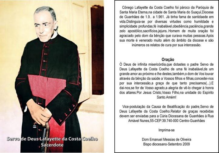 CONEGO LAFAYETTE DA COSTA COELHO: Oração Pela Beatificação