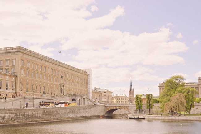 Best Stockholm Instagram Spots - Stromkajen view of Royal Palace