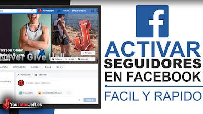 como activar seguidores en facebook