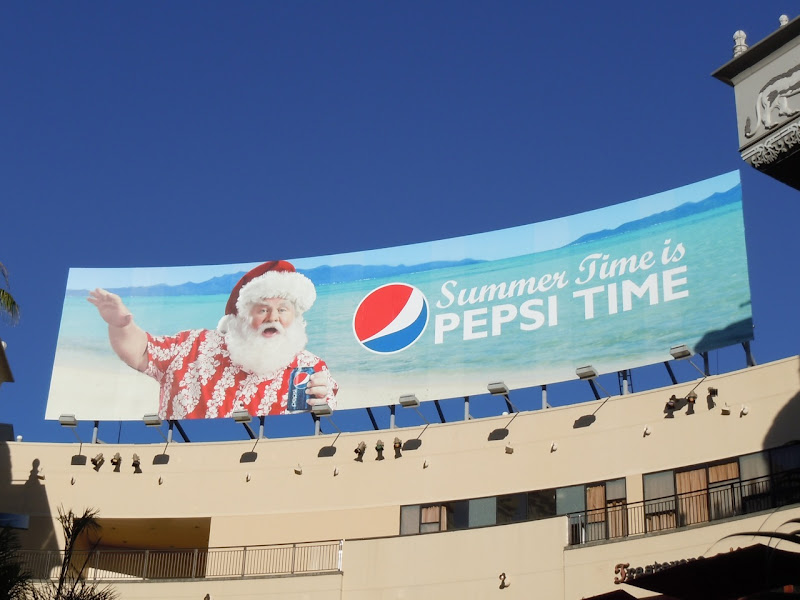 Pepsi Summer Santa billboard