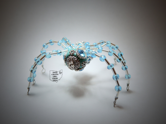 Beaded Spider and My First Experiences With Wire Wrapping