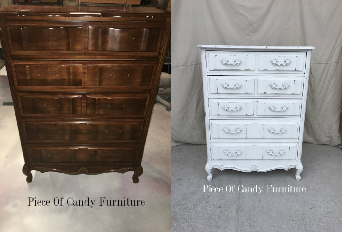 Piece Of Candy Furniture Distressed White French Chest