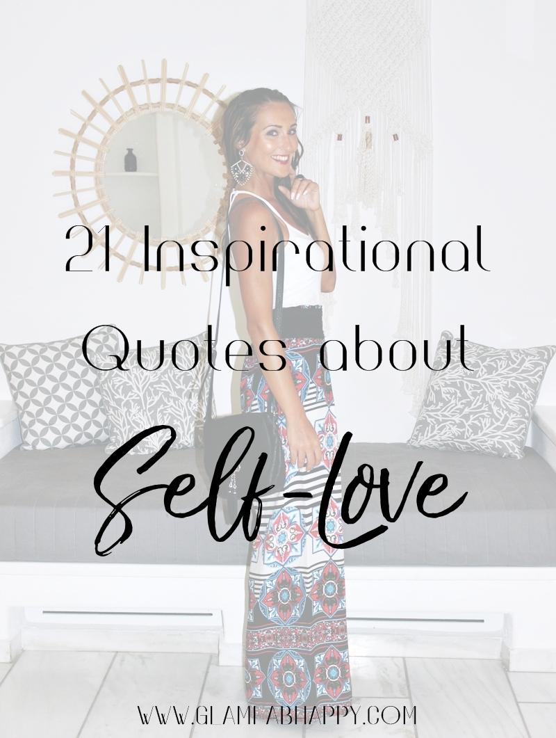 Quotes About Loving Yourself 21 Inspirational Quotes About Selflove  Glam Fab Happy
