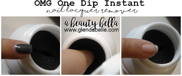Omg One Dip Instant Nail Lacquer Remover Dissolvant A Beauty Bella