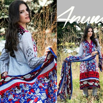 Al-Zohaib Textile Anum Lawn Prints 2016-2017