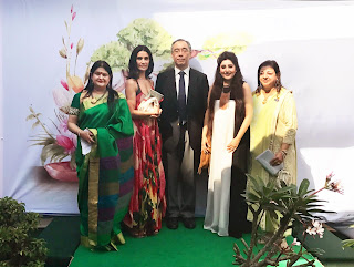Archana Kochhar &  Mehr Rampal inaugurated the Bonsai Bonanza & Ikebana Exhibition