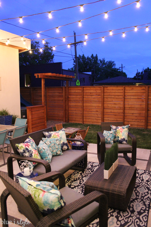 String Lights Garage : {outdoor style} Early Summer Backyard Tour Blue i Style