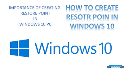 HOW TO CREATE RESTORE POINT IN WINDOWS 10 1