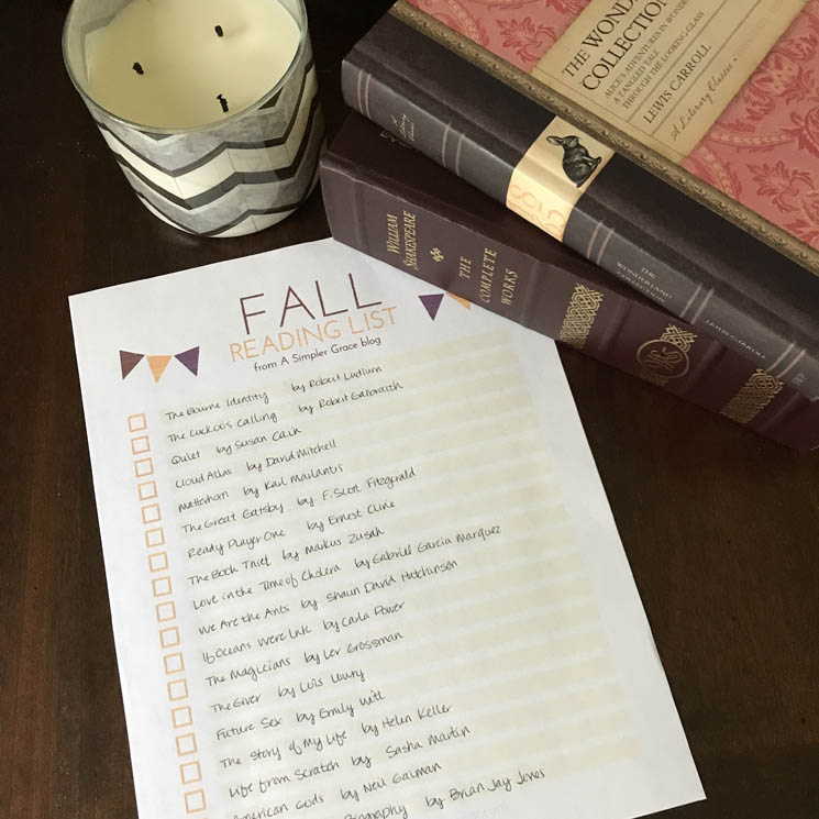 What I Read | August + FREE Fall Reading List Printable - A Simpler Grace