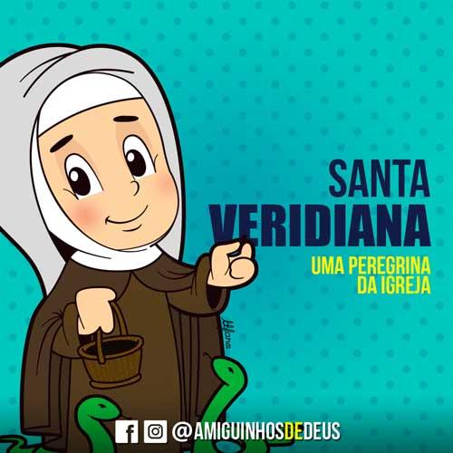 Santa Veridiana desenho