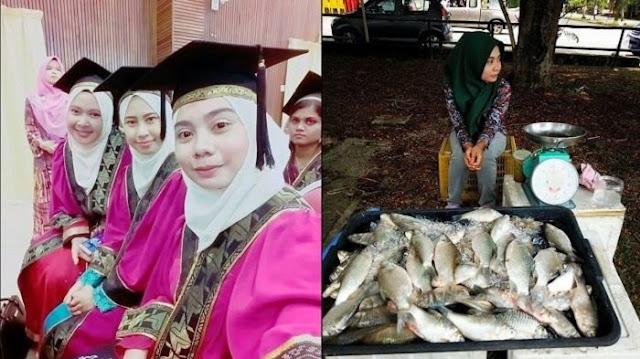 Wanita Lulusan Diploma Ini Lebih Pilih Jualan Ikan Segar Di Pasar Ketimbang Kerja Kantoran, Ini Alasannya
