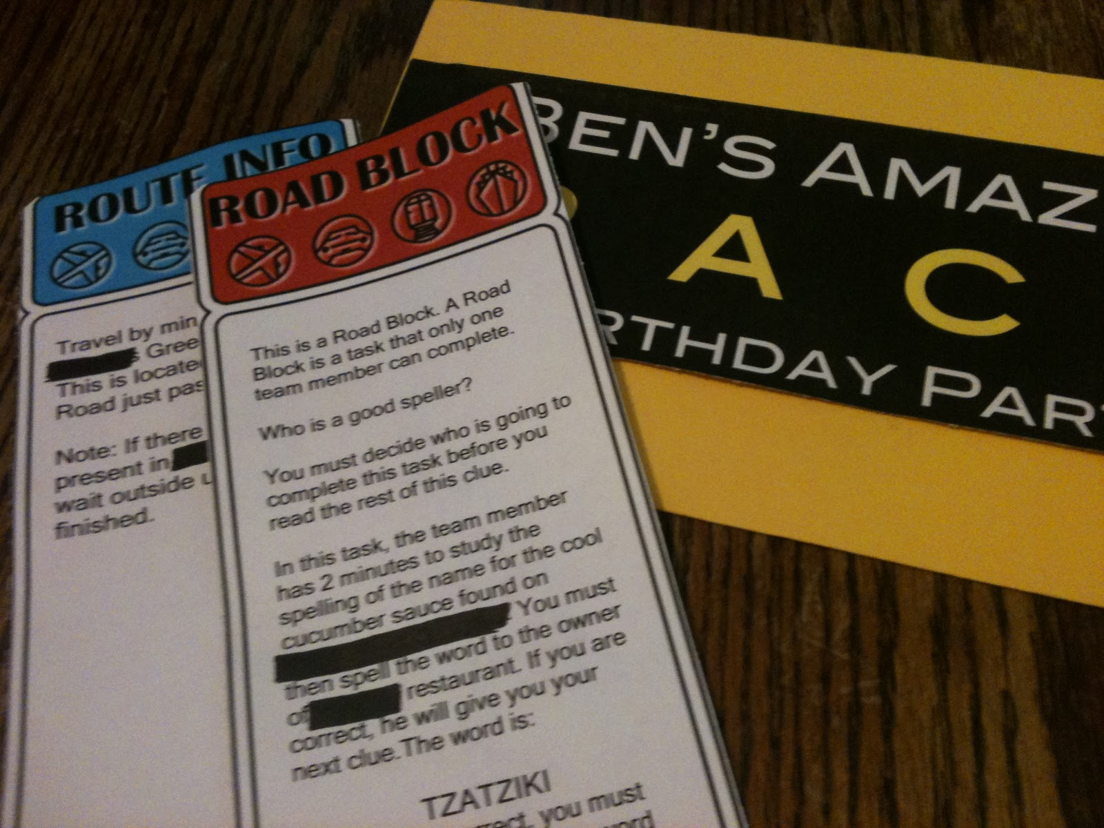 Free Amazing Race Birthday Printable