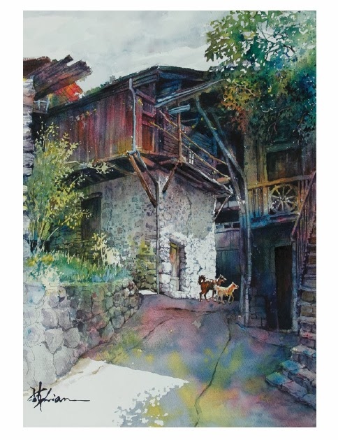 Chinese Landscape Painting Techniques for Watercolor - How ...