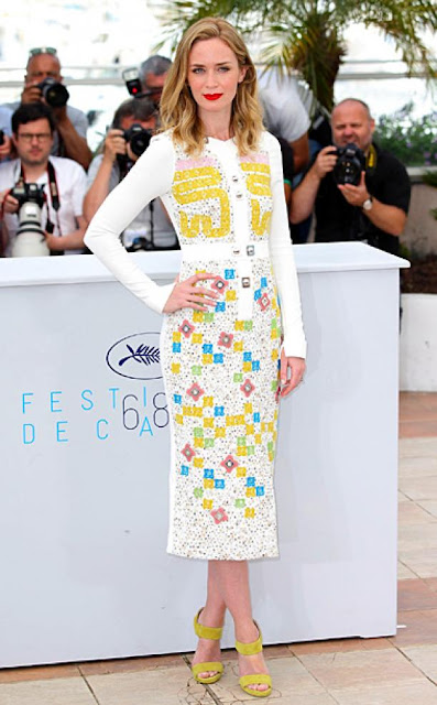 Emily Blunt in Peter Pilotto for Cannes (Photocall) 2015